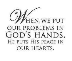 Wise Word Quotes GOD'S HAND peace in our hearts