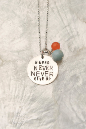 jewelry inspiration inspirational support never give up necklace ...