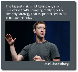 Mark Zuckerberg on risk