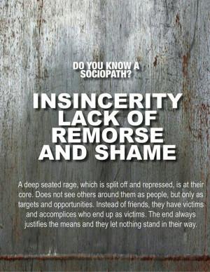 Empathetic, remoreless, callous,toxic people. This describes someone I ...