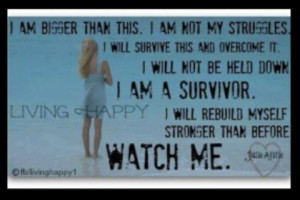am not my struggles. Eating disorder recovery Inspiration