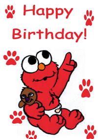 Birthday Elmo Card Sayings and Messages