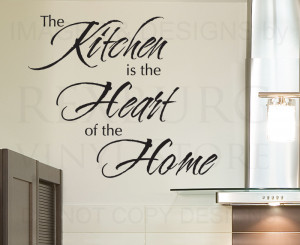 Large Personalised Kitchen Name Food Wall Quotes Wall Stickers ...