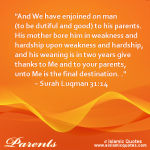 Islamic Quotes about Mothers: