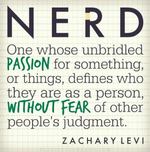 Zachary Levi Nerd Quote