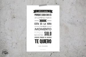 Mario Benedetti Quotes In English Typograhic quote print - mario