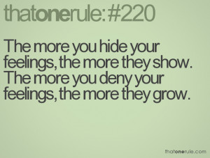 Quotes Hiding Your Feelings