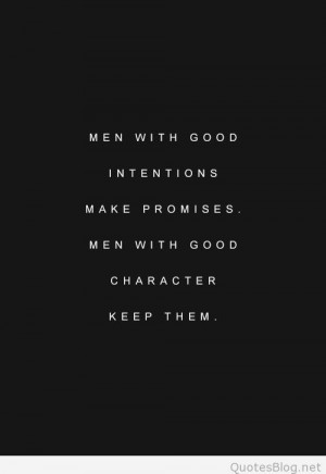 Men with good character quote