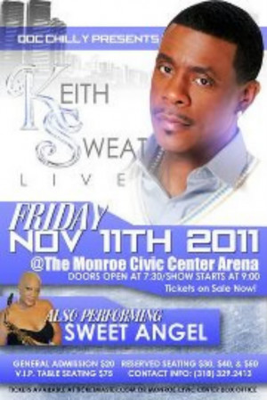 Keith Sweat and Sweet Angel On One Stage Images