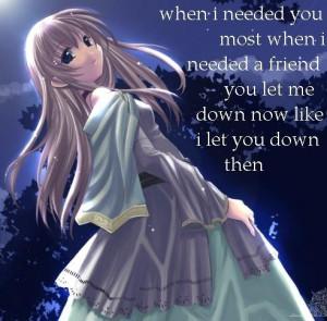 Sad anime sadness