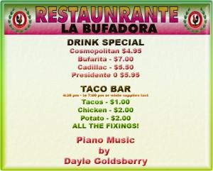 Taco Tuesday @ La Buf 1/14/2014