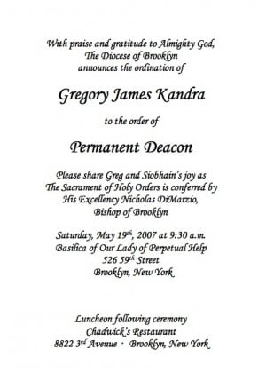 Deacon Ordination Invitation | galleryhip.com - The Hippest Galleries!