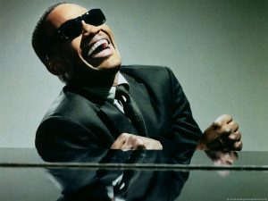 Inspirational Quote from Ray Charles: Affluence separates...