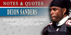 Deion Sanders is the first long-time member of the Atlanta Falcons and ...