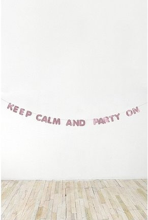 keep calm & party on banner.