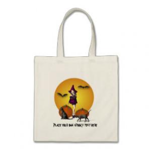 Cute halloween Witch Bag customize
