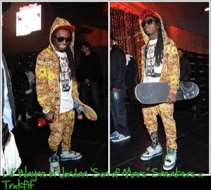 Lil' Wayne in TRUKFIT x Jordan 'Son of Mars' Sneakers