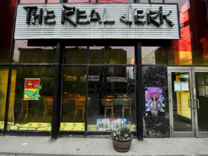 The Real Jerk restaurant on Queen Street East in Toronto.