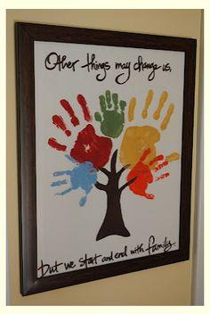 Amanda from Handprint and Footprint Art shared 10+ Handprint Family ...
