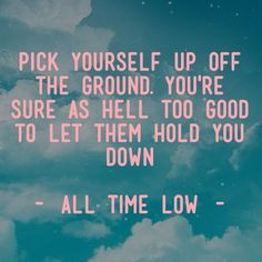 Hitting Rock Bottom is like jumping into a swimming pool... when your ...