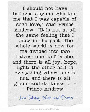 War and Peace beautiful quote
