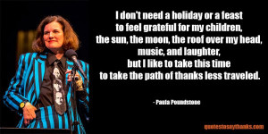 Giving Thanks Quote - Path of Thanks Less Traveled