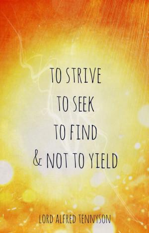 Lord Alfred Tennyson wisdom, Ulysses
