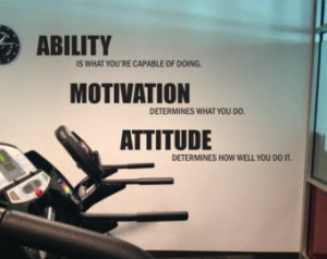 Lou Holtz Quote Gym Wall Decal. Abi lity, Motivation, Attitude 14 ...