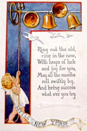 ... : Angel ringing in the new year with bells and rhyming New Year Poem