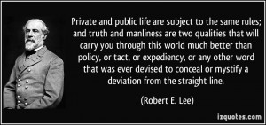 More Robert E. Lee Quotes