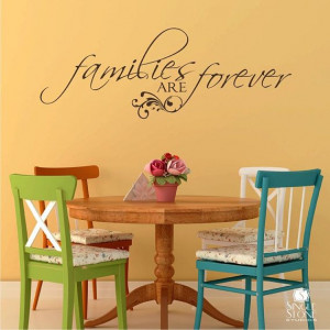 Wall Decal Quote Families are Forever Vinyl by singlestonestudios, $24 ...
