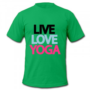 ... Casual Tee Shirt Men live love yoga Print Cool Quotes T Shirts for Men