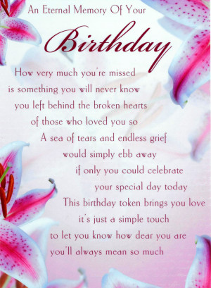 happy birthday son love and miss you always mum and dad xxxx happy ...