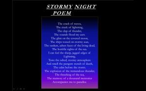 Stormy Night Poem
