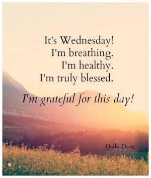 its wednesday im grateful