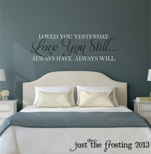 Still Master Bedroom Wall Decal - Vinyl Wall Quote Decals - Wedding ...