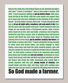 So God Made a Farmer - Paul Harvey quote