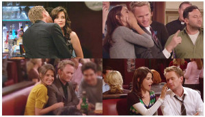 Barney : Ted, I have to tell you the truth! I'm in love with [Sees ...