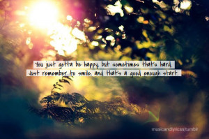 ... hard. Just remember to smile and that's a good enough start