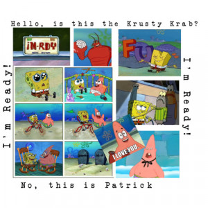 Love you - a quote by patrick star :D - Polyvore