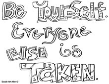Enjoy this page of All quotes coloring pages