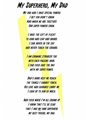 ... image to download your own My Superhero, My Dad Poem and Printable