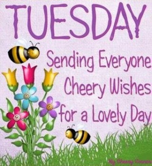 Sending cheer on Tuesday