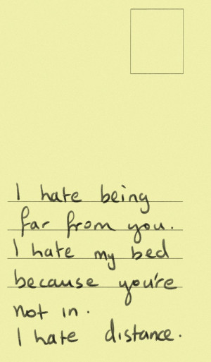 Hate Love Quotes For Him I hate you.