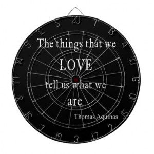 Vintage Aquinas Love Inspirational Quote / Quotes Dart Boards