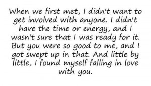 ... , Sweetest Guy Quotes, When We First Met Quotes, Im Glad I Met You