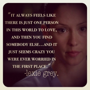 grey s anatomy i loooooove lexie