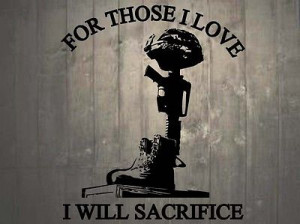 Helmet Rifle Boots Fallen Soldier Quote Memorial Wall Sticker 25