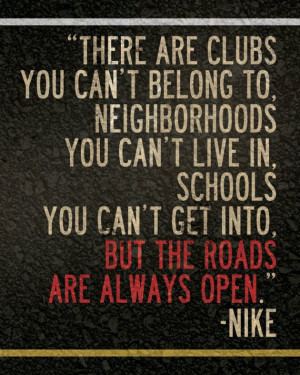 Nike Track Quotes Nike running quote 8 x 10