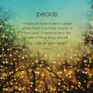 Wishing you peace and a calm heart this holiday season. I'm so ...